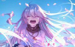 动漫哭泣图片唯美