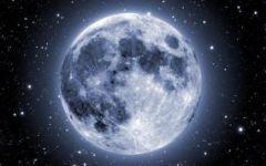夜空月亮图片唯美