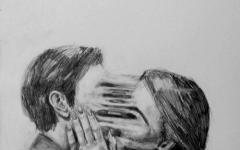爱情分开图片