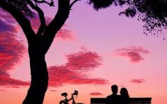 情侣简易图画