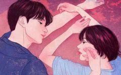 手绘情侣插画