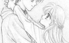 情侣的铅笔画