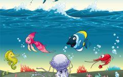 鱼虾图片卡通