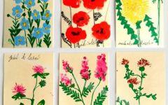 幼儿手印画花朵