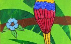 画小树上小鸟图片