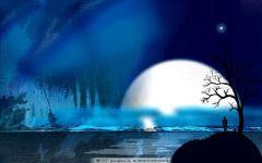 月夜唯美图片