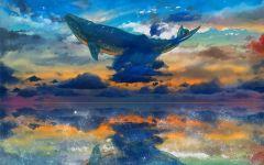 鲸落唯美图片