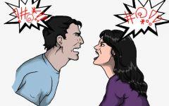 吵架动漫图片
