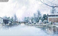 下雪动漫图片