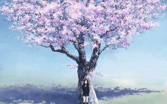 动漫树图片唯美