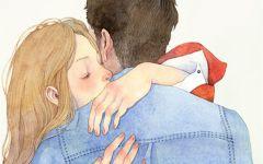 情侣背景画画