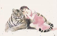 可爱动物国画