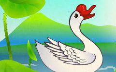 鹅可爱卡通图