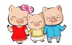 猪可爱卡通图