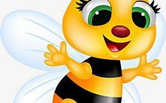 蜜蜂可爱卡通图