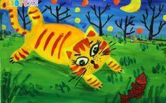 儿童画可爱小猫