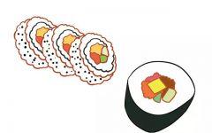 可爱寿司简笔画