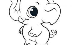 大象简笔画可爱
