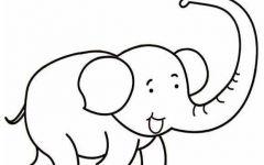 可爱大象简笔画