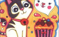 小猫可爱儿童画