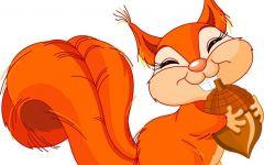 小松鼠可爱图片