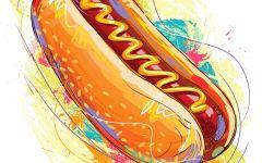卡通烤肠图片