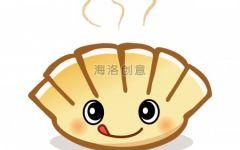 卡通画饺子