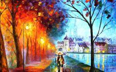 油画中的情侣