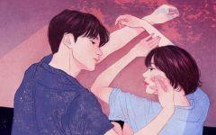 情侣插画图