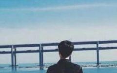情侣头像一起看海