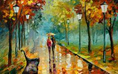 情侣背景油画