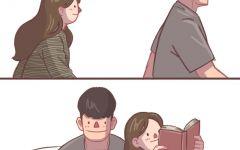 韩国情侣温馨插画