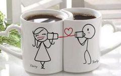 情侣杯子背景图片