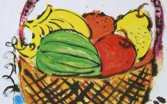 大丰收水果幼儿画