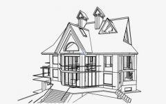 超简单素描画房子