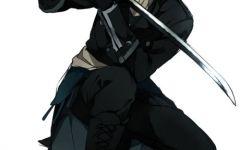 动漫拿剑的图片