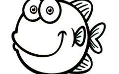可爱鱼简笔画