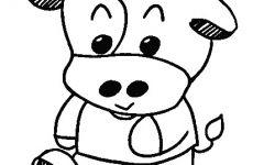 牛简笔画上色