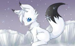 白狐狸图片动漫