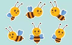 卡通画小蜜蜂