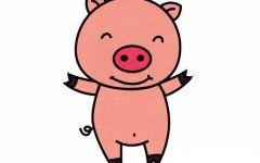 可爱小猪卡通画