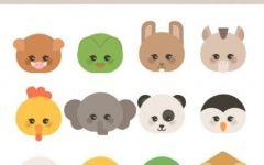 可爱动物表情图