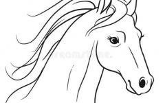 马头简笔画可爱
