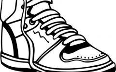 手绘鞋子图画