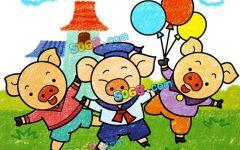 儿童创意画猪