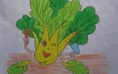 小青菜儿童画