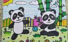 画熊猫的世界