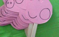 儿童手工画猪