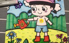 面包车儿童画