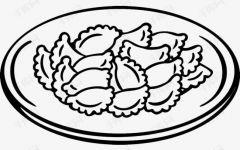 做饺子简笔画